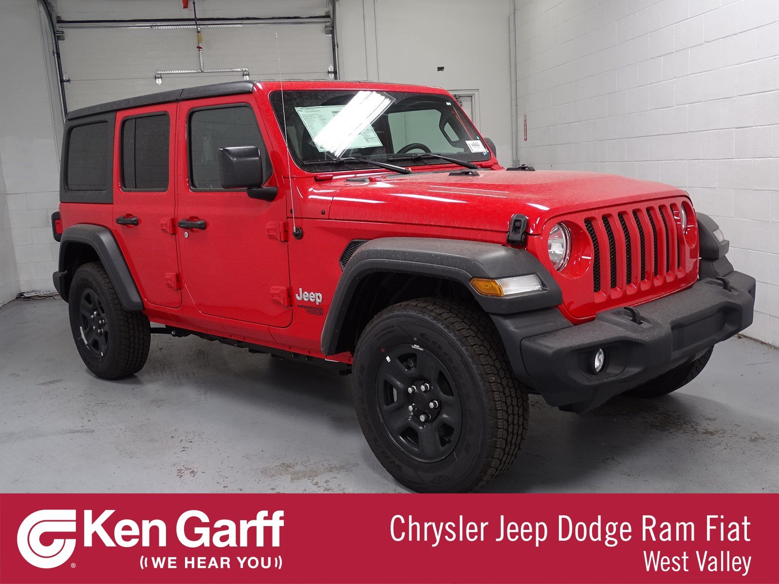 Jeep Wrangler Unlimited Sport >> New 2018 Jeep Wrangler Unlimited Sport Convertible 1j80888 Ken