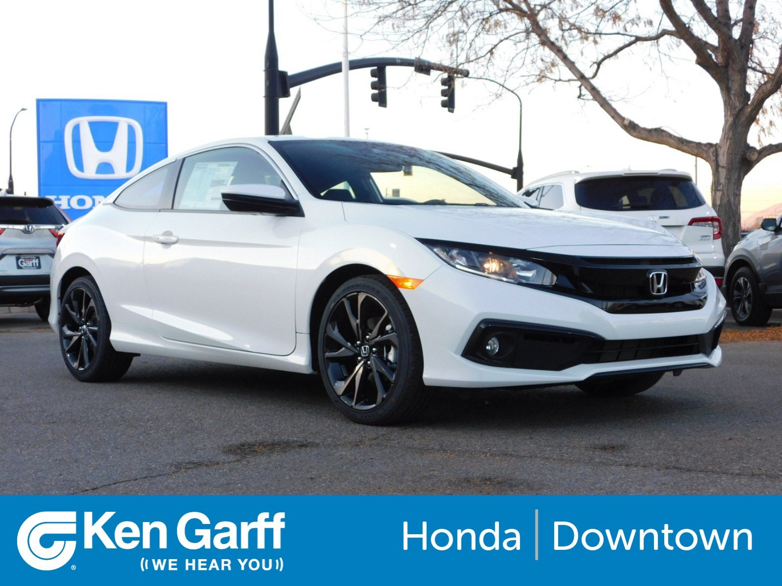 New 2019 Honda Civic Coupe Sport 2dr Car 1h90368 Ken Garff