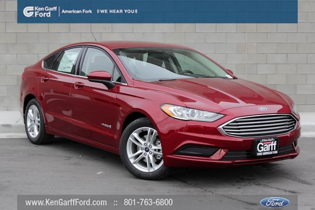 New 2018 Ford Fusion Hybrid Se 4d Sedan 1f80382 Ken Garff